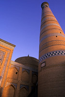 Islam Khodja Minaret and Mosque, Itchan Kala, Old City Khiva, Uzbekistan