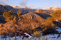Snowfall on Catalina Mountains from Windy Point, Arizona