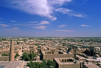 View over Khiva, Uzbekistan, from atop Islam Khodja minaret