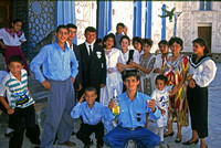 Wedding party, Bukhara, Uzbekistan