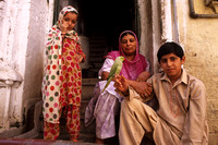 Family in Old City of Peshawar, Pakistan
